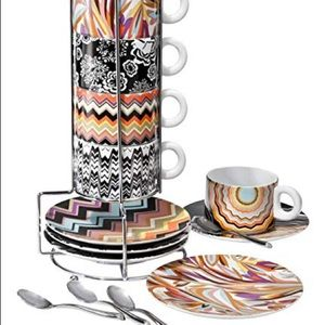 New MISSONI for Target Espresso Coffee Tea Cup Set